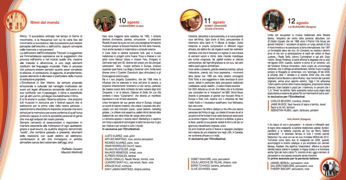 Programma del San Marino Etnofestival 2013