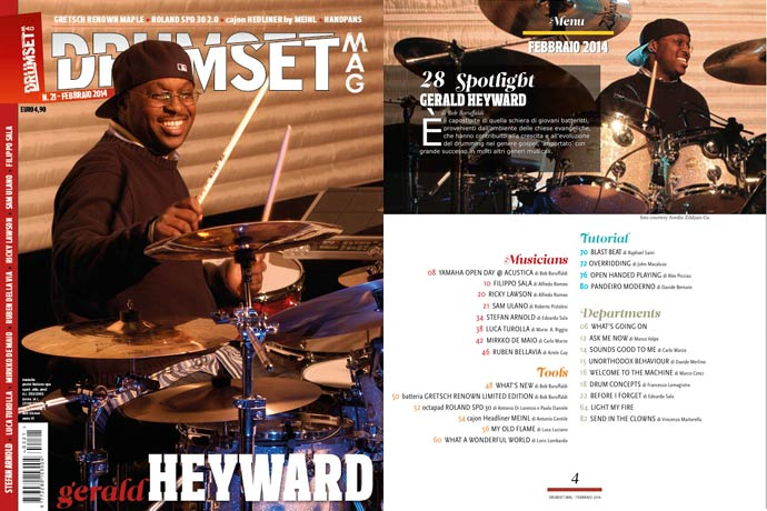 Drumset Mag n. 21 - Febbraio 2014: Il Menù