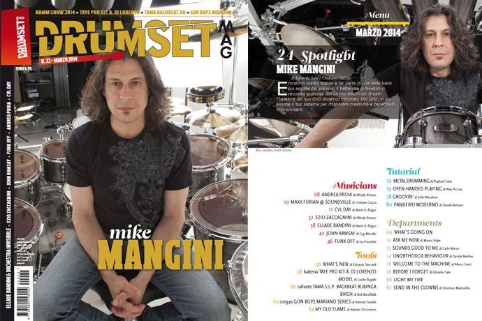 Drumset Mag n. 22 - Marzo 2014: Il Menù