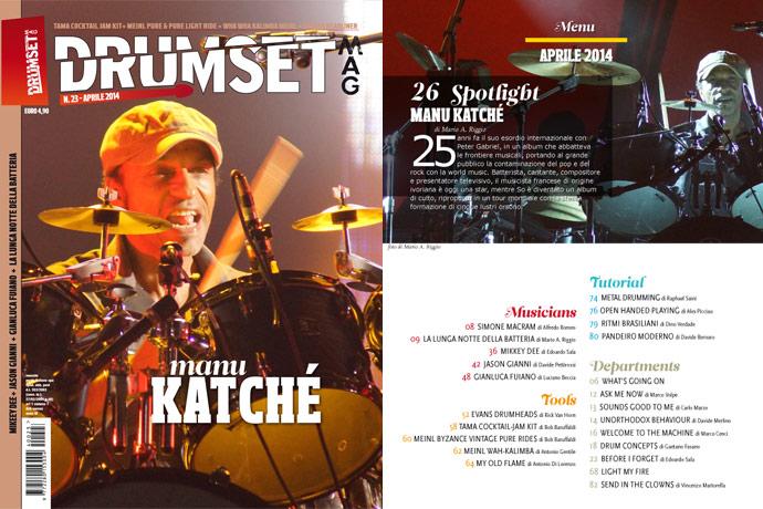 Drumset Mag n. 23 - Aprile 2014: Il Menù