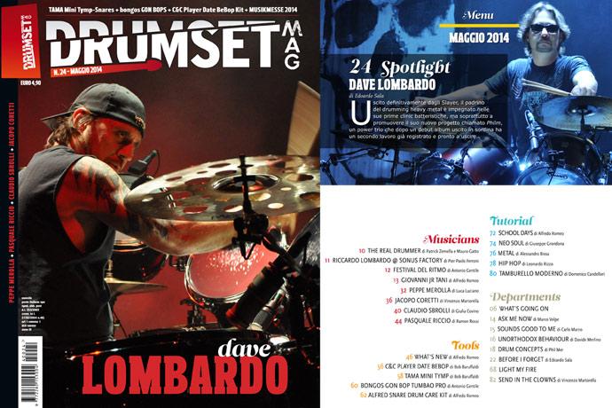 Drumset Mag n. 24 - Maggio 2014: Il Menù