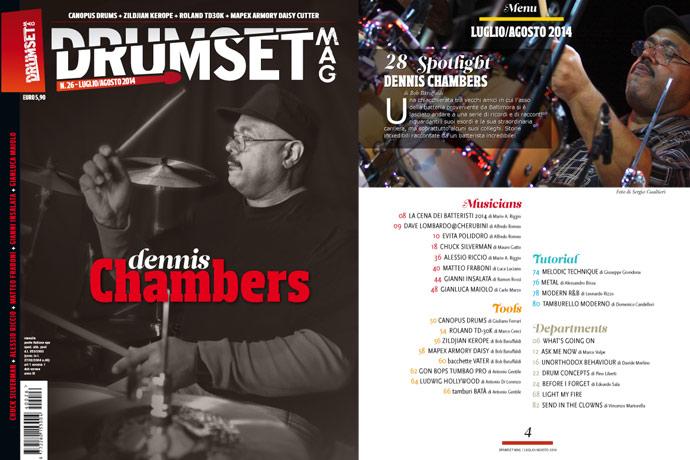 Drumset Mag n. 26 - Luglio-Agosto 2014: Il Menù