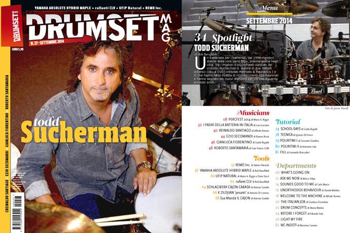 Drumset Mag n. 27 - Settembre 2014: Il Menù