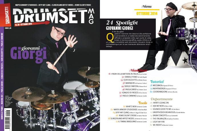 Drumset Mag n. 28 - Ottobre 2014: Il Menù