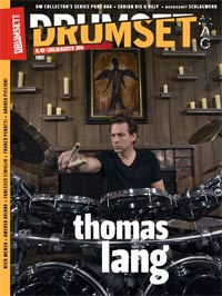 "FREE - Drumset Mag n. 48 di LUGLIO/AGOSTO 2016 - Spotlight su THOMAS LANG - Never Stop Thinking..."" width="
